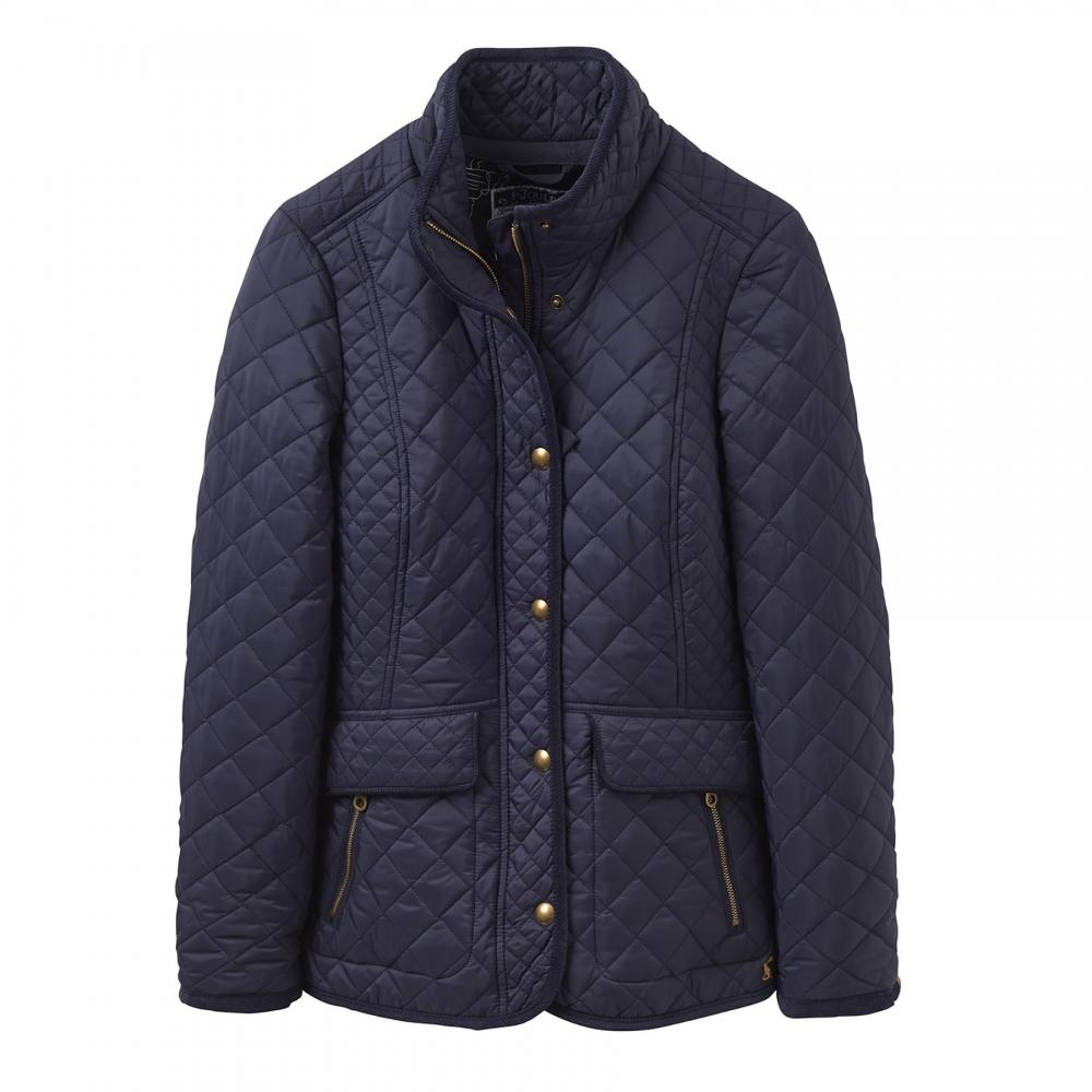 Womens blue quilted jacket