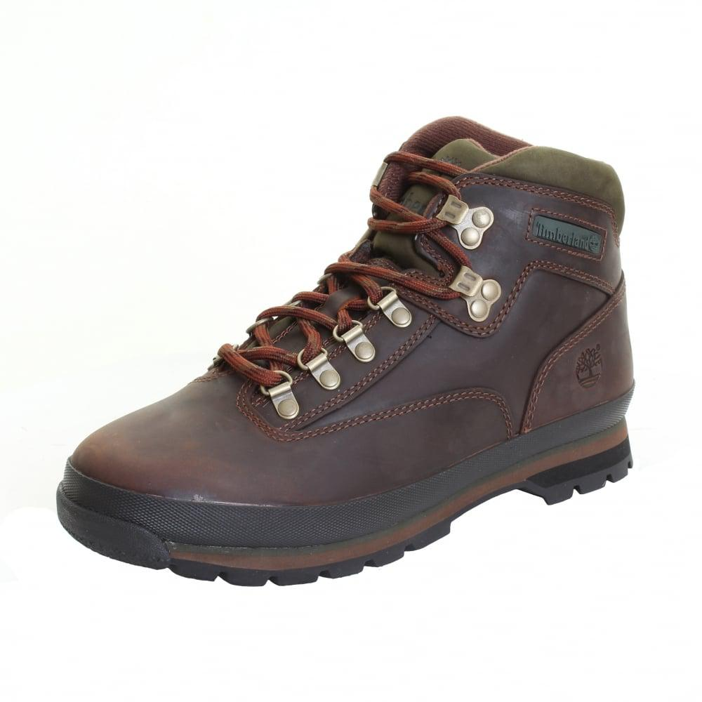 d7e357adf52 Timberland - Brown Euro Hiker Mens Mid Leather Boot for Men - Lyst