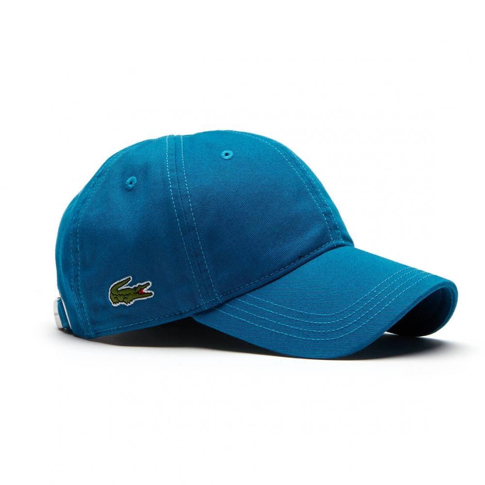 be2e14695df Lacoste Gabardine Mens Cap (rk9811) in Blue for Men - Lyst