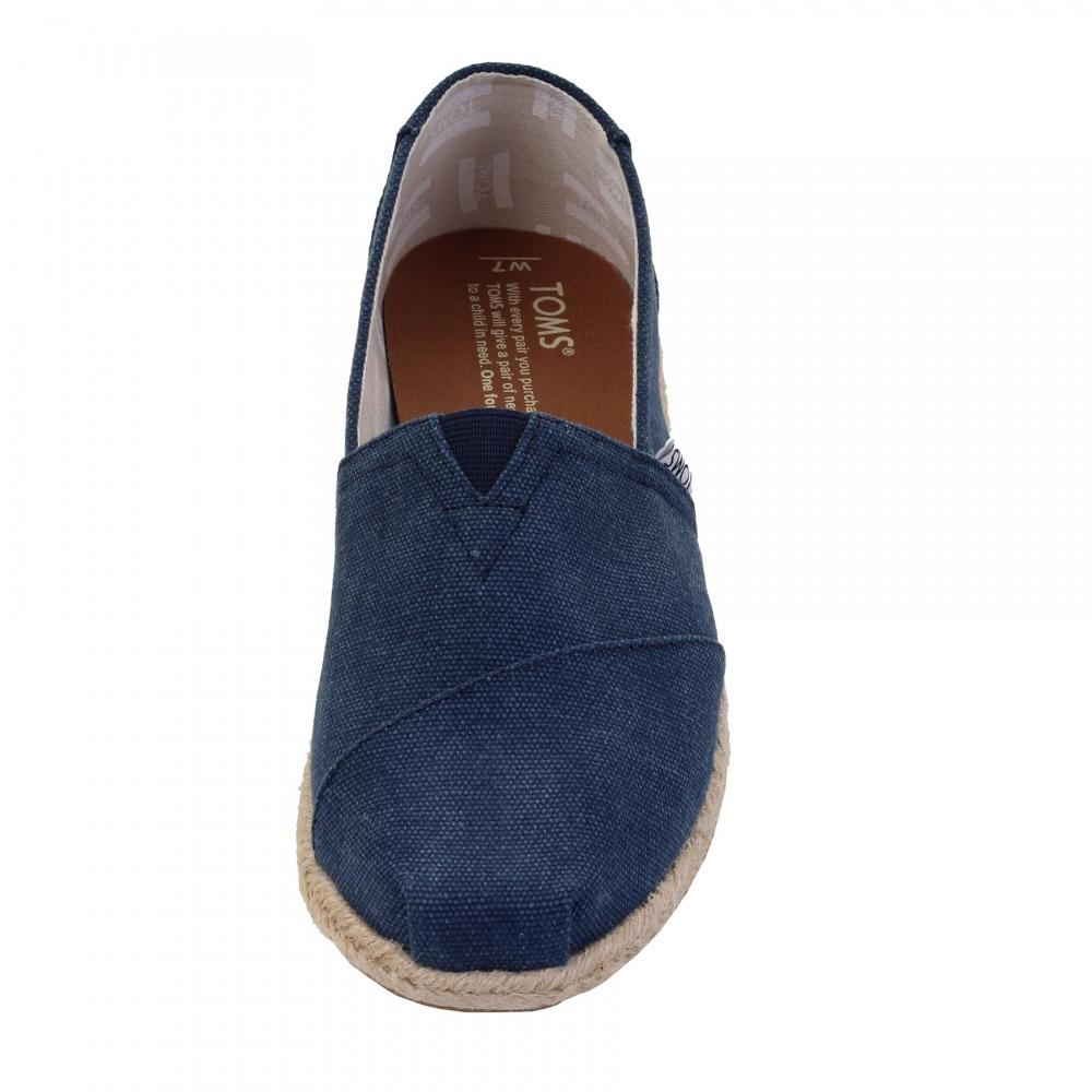 e3b0add47b5 TOMS - Blue Alpargata Navy Washed Canvas Rope Sole Womens Espadrille -  Lyst. View fullscreen