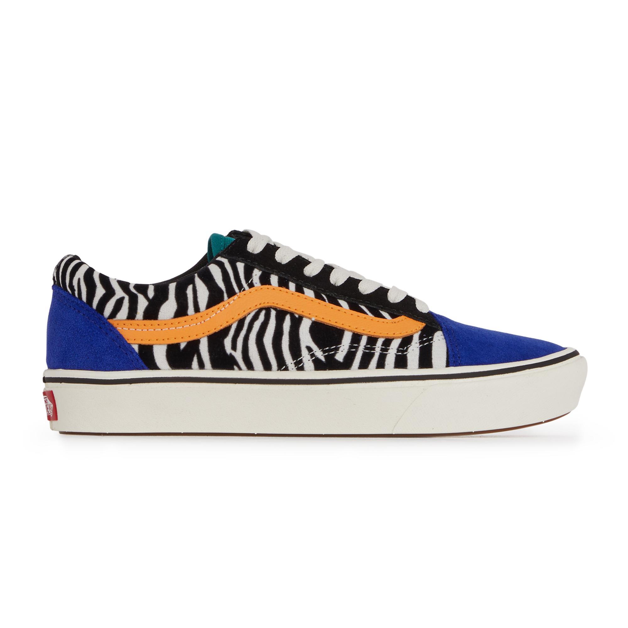 Soldes > vans zebre bleu > en stock