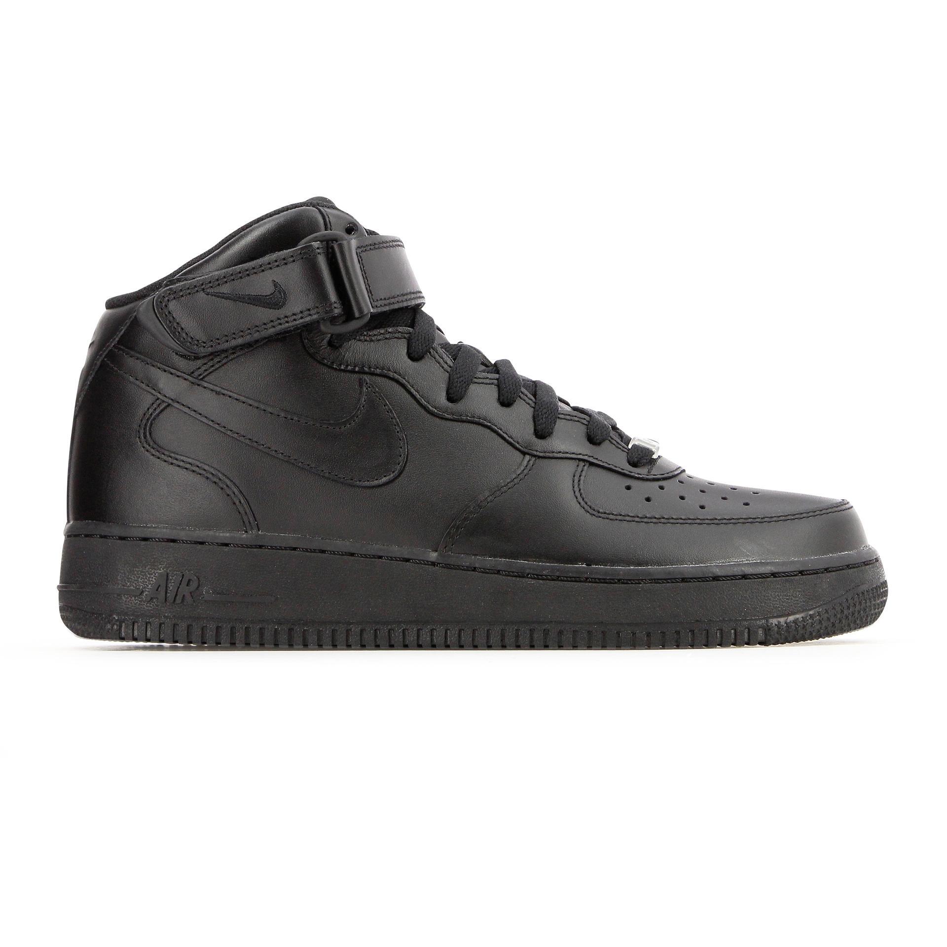 Air force 1 mid Nike pour homme en coloris Noir - Lyst