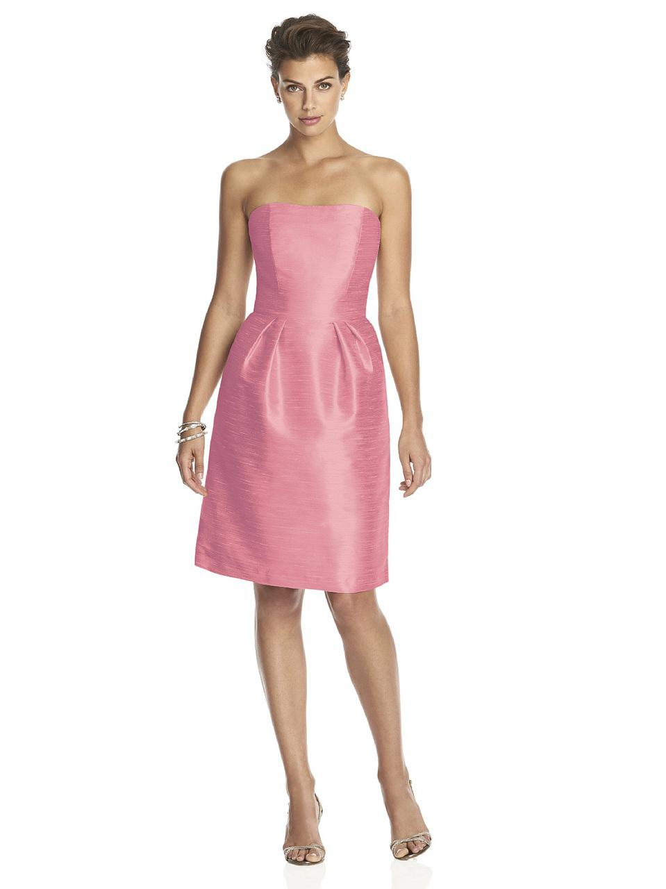 Lyst - Alfred Sung D Bridesmaid Dress In Papaya in Pink - Save 13%