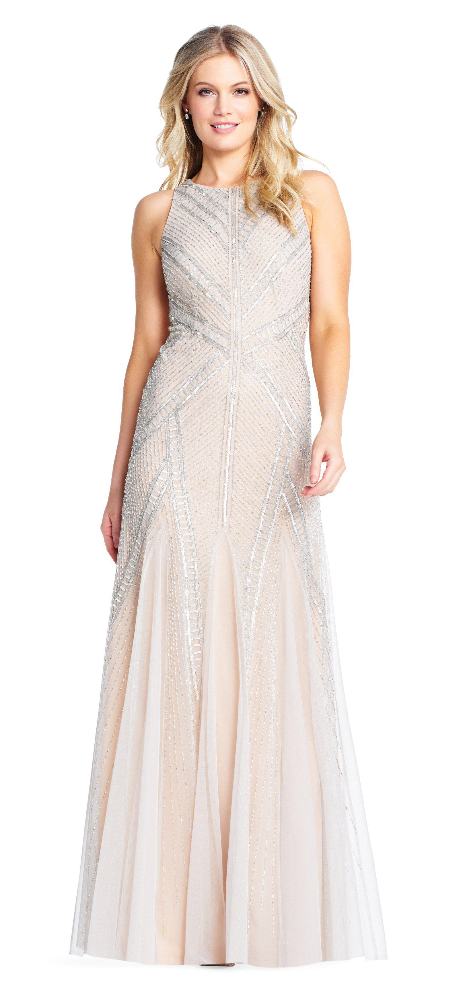 5fe23a4f Adrianna Papell - Multicolor Ap1e202951 Sequined Jewel Trumpet Dress -  Lyst. View fullscreen