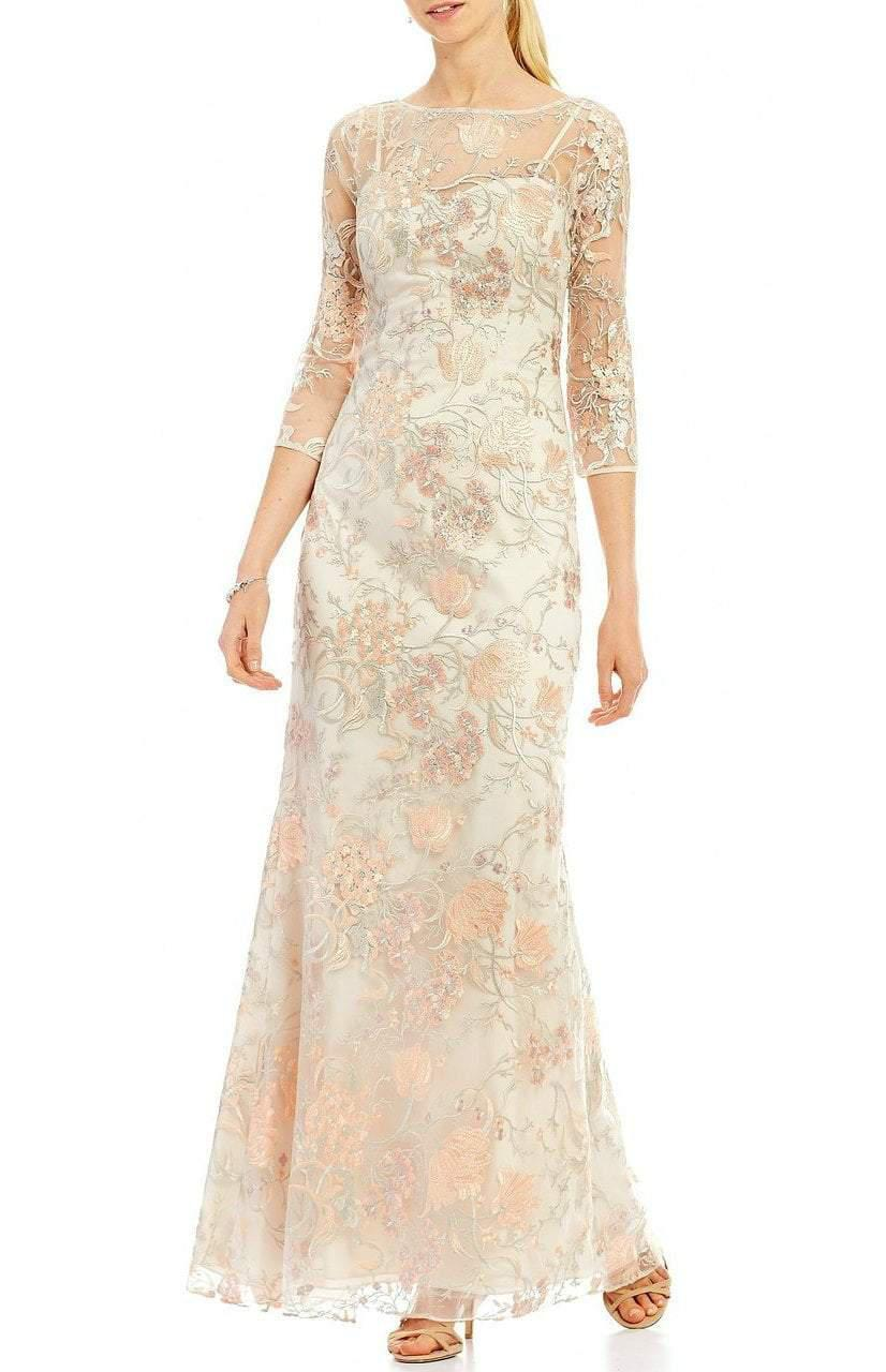 56d38da4cb745 Aidan Mattox. Women s Md1e201009 Sheer Embroidered Lace Gown.  688  344  From Couture Candy