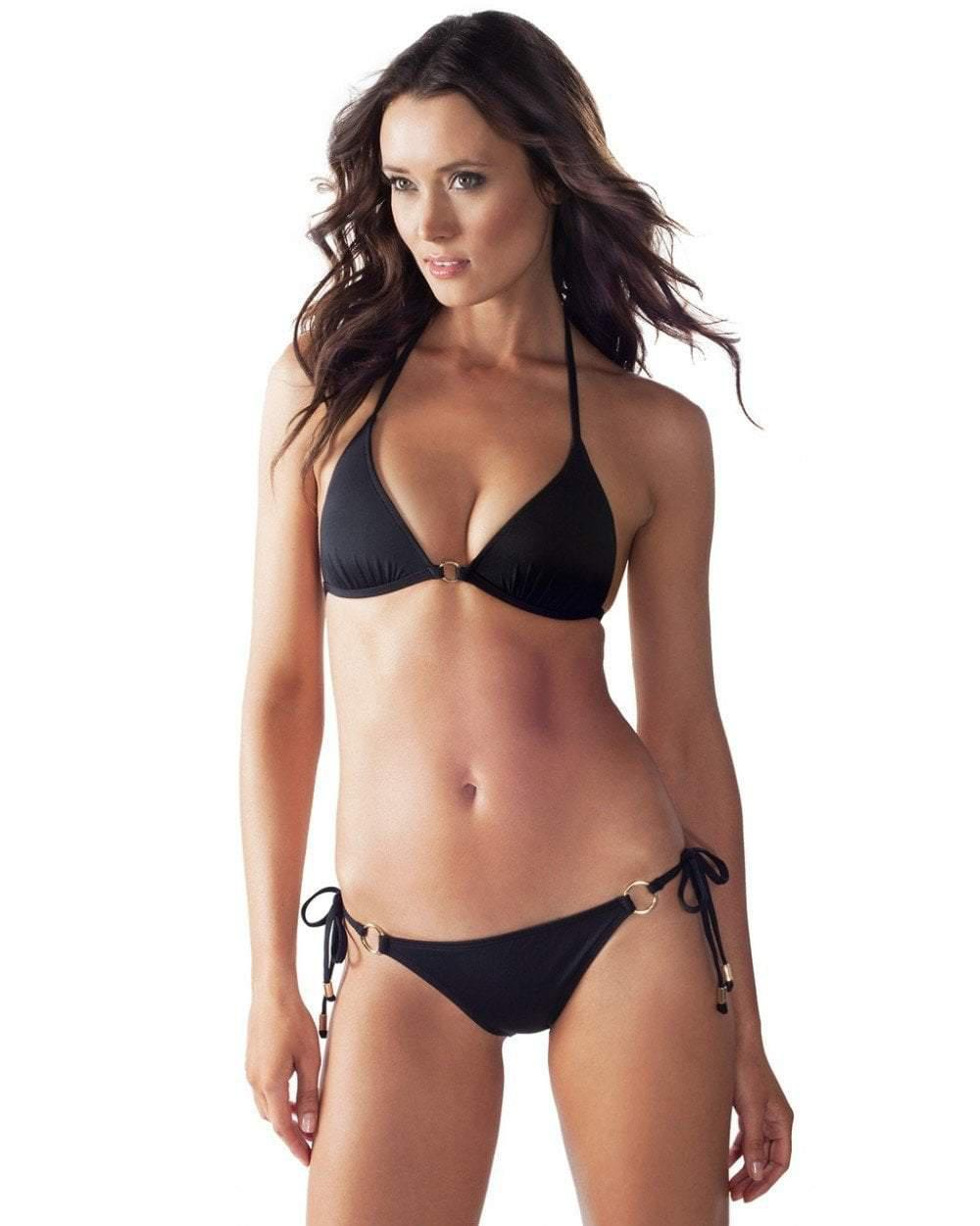 676ecfba0c Voda Swim. Women's Black Envy Push Up Hoop String Top. $79 From Couture  Candy