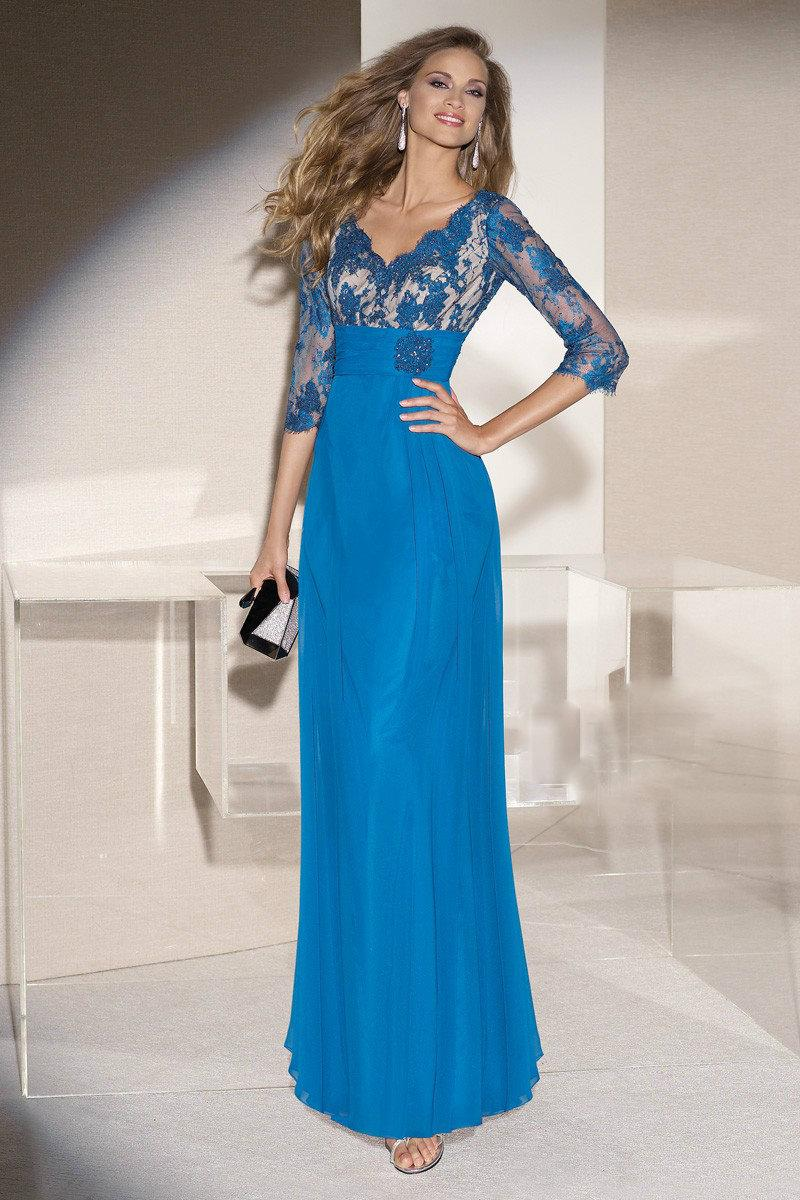 Lyst - Alyce Paris Mother Of The Bride - Dress In Blue Coral in Blue