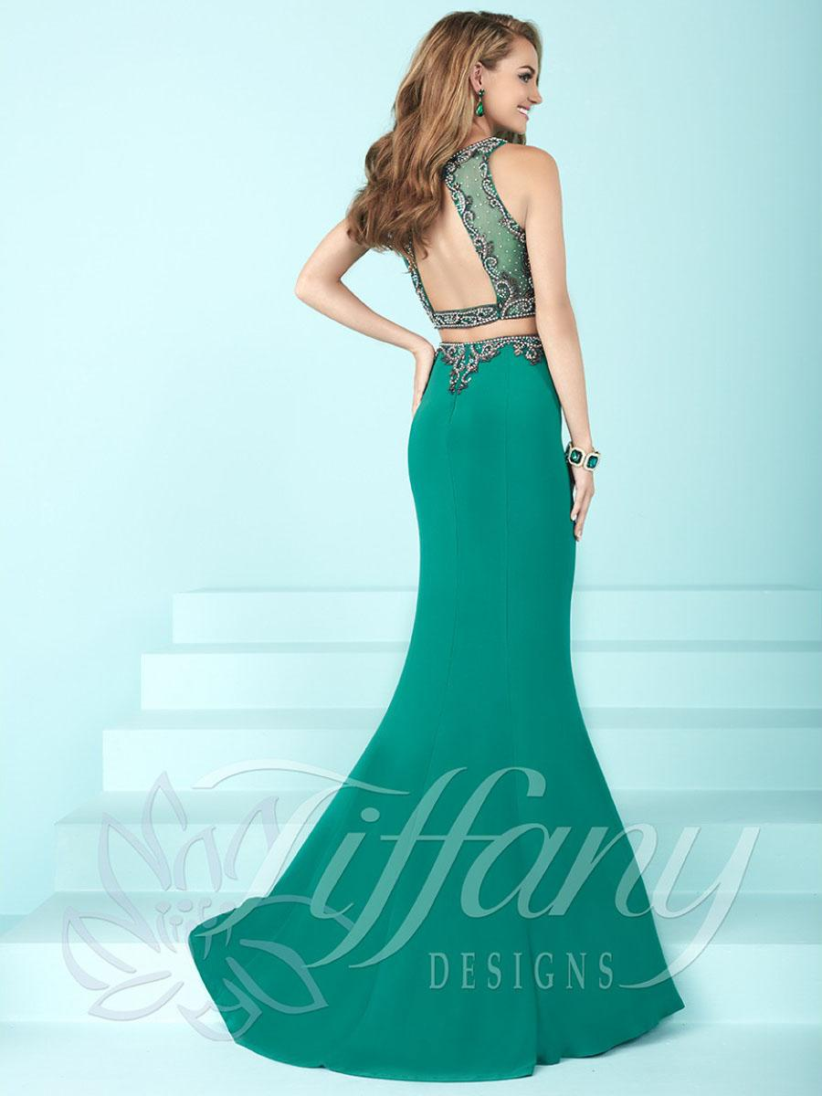 Lyst - Tiffany Designs Two-piece Long Prom Dress With Open Back in ...