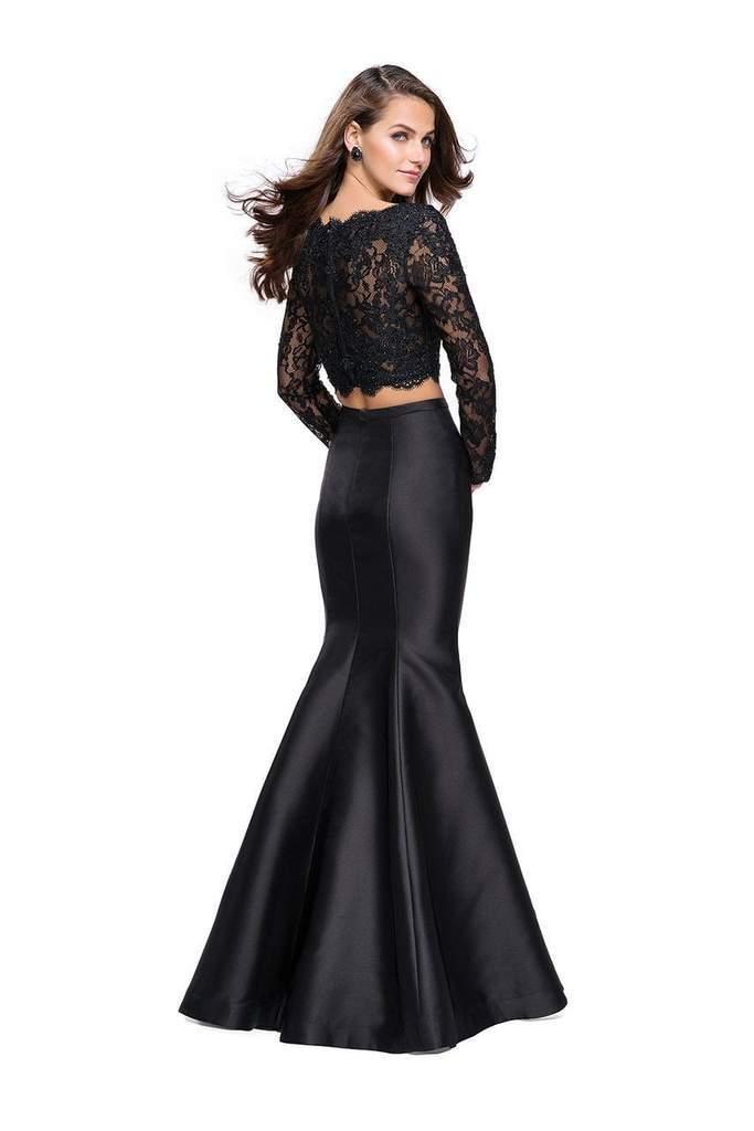 f8b6c48e Lyst - La Femme Two-piece Long Sleeves Mermaid Dress 25324 - 1 Pc ...