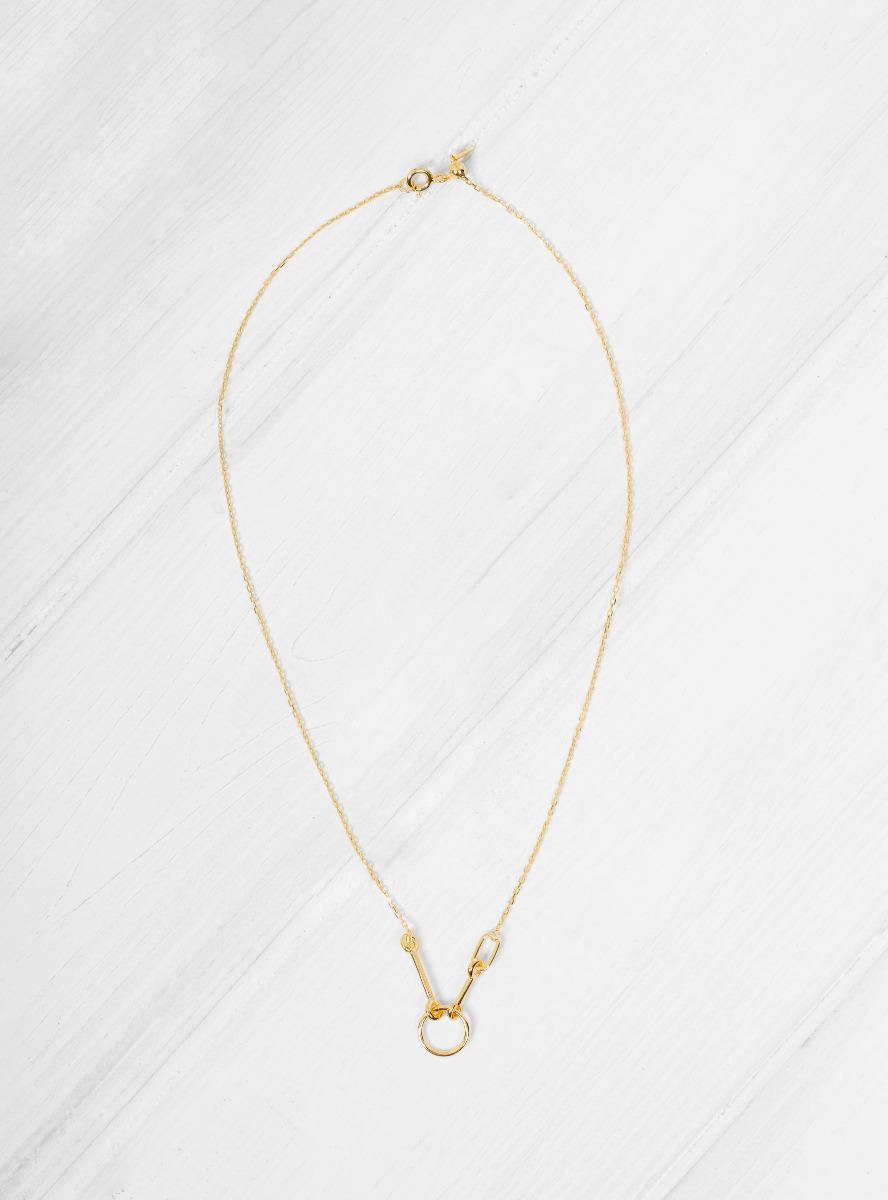 Maria Black Orion hoop necklace - Metallic HlLvUM52A