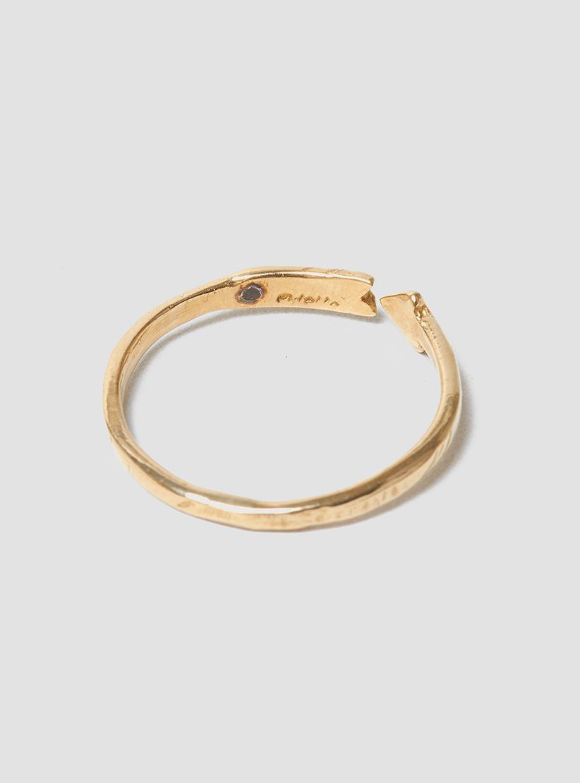Odette New York Big Arc Ring in Metallic