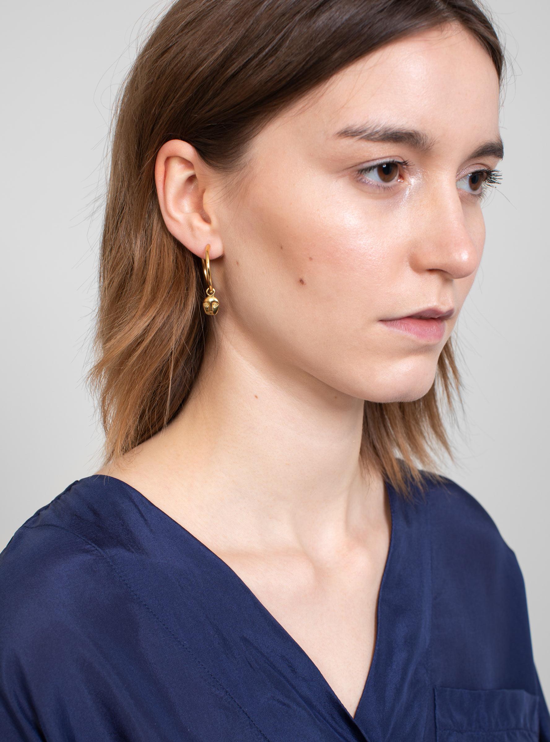 maria black ray gold plated earring in metallic