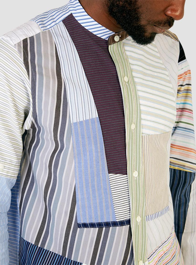 Needles Banded Collar Shirt Stripe For Men Lyst