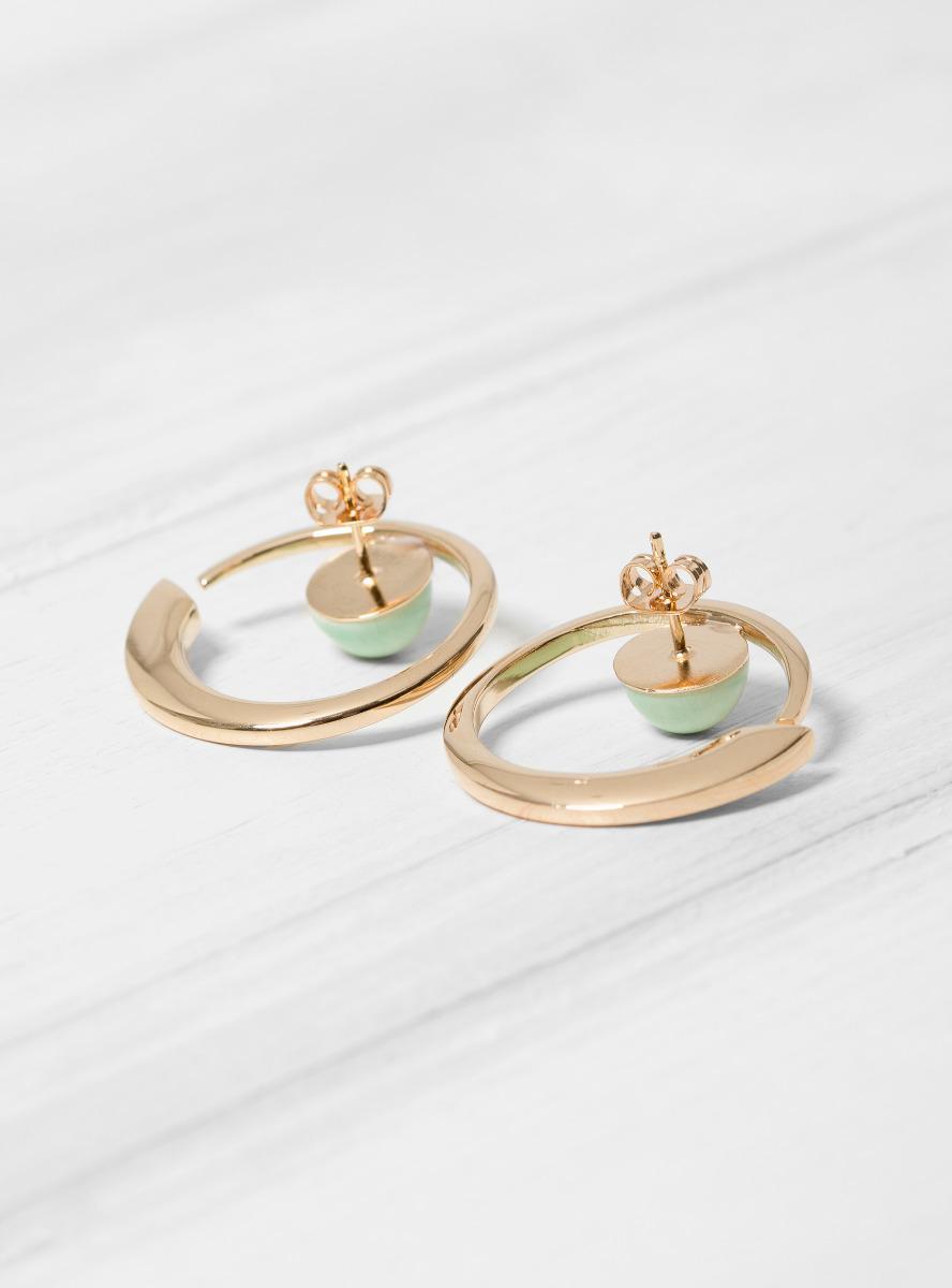 Helena Rohner Round Porcelain Earrings