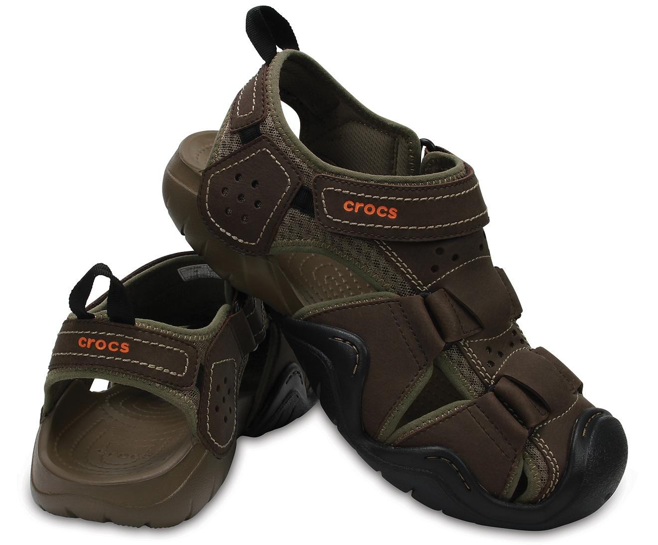 Crocs™ Swiftwater Leather Fisherman in
