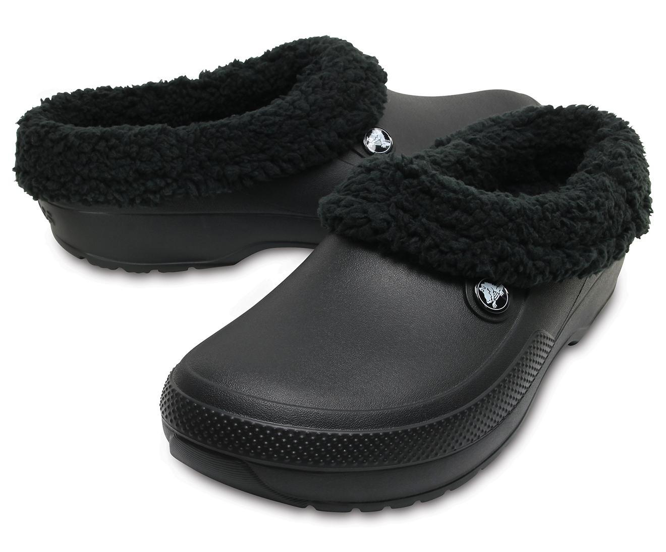 Crocs Womens Mens Blitzen Iii Clog Indoor Or Outdoor Warm and Fuzzy Shoe