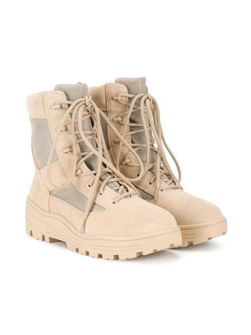 44e9e0ac70726 Lyst - Yeezy Combat Boot Crosta Light Sand Calfskin Suede in Natural ...
