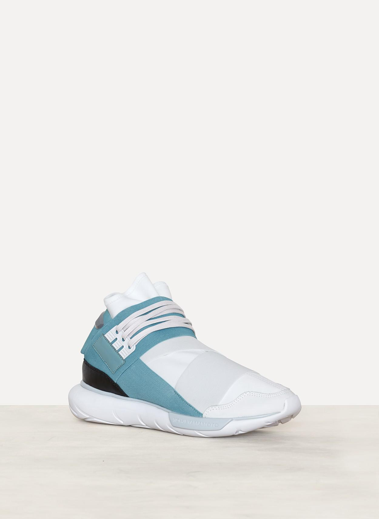 373670fc4 Lyst - Y-3 Crystal White Vapour Steel Qasa High Sneaker in White for Men