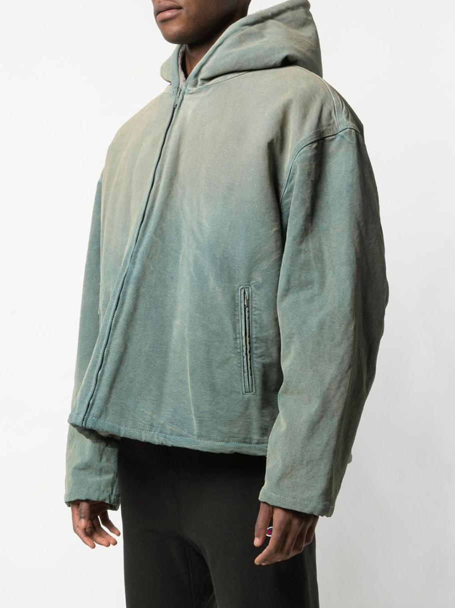 e6191eef6 Men's Green Shearling Lined Canvas Jacket Glacier