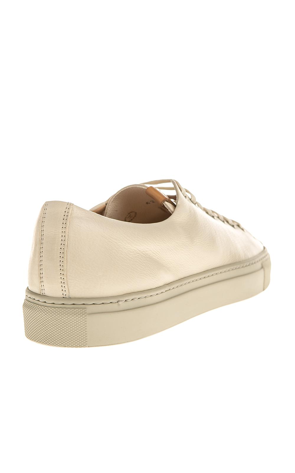 Buttero B6305 Tanino Low Sneaker Leather Bianco in Natural