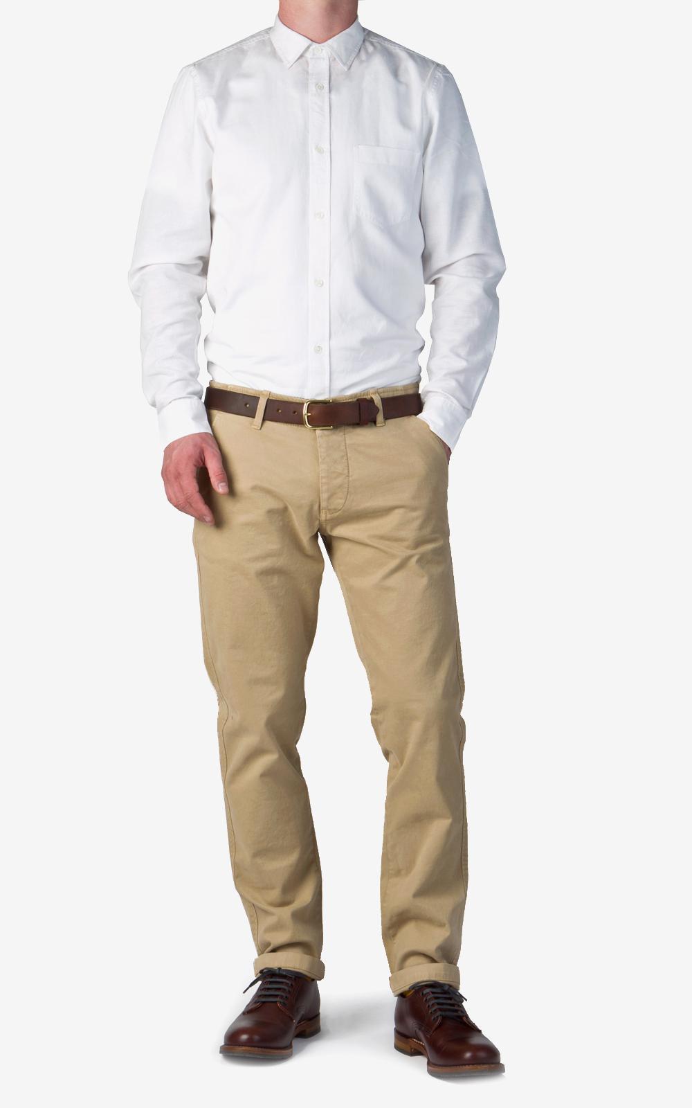 NN07 Cotton Simon Chino Light Khaki in Natural for Men