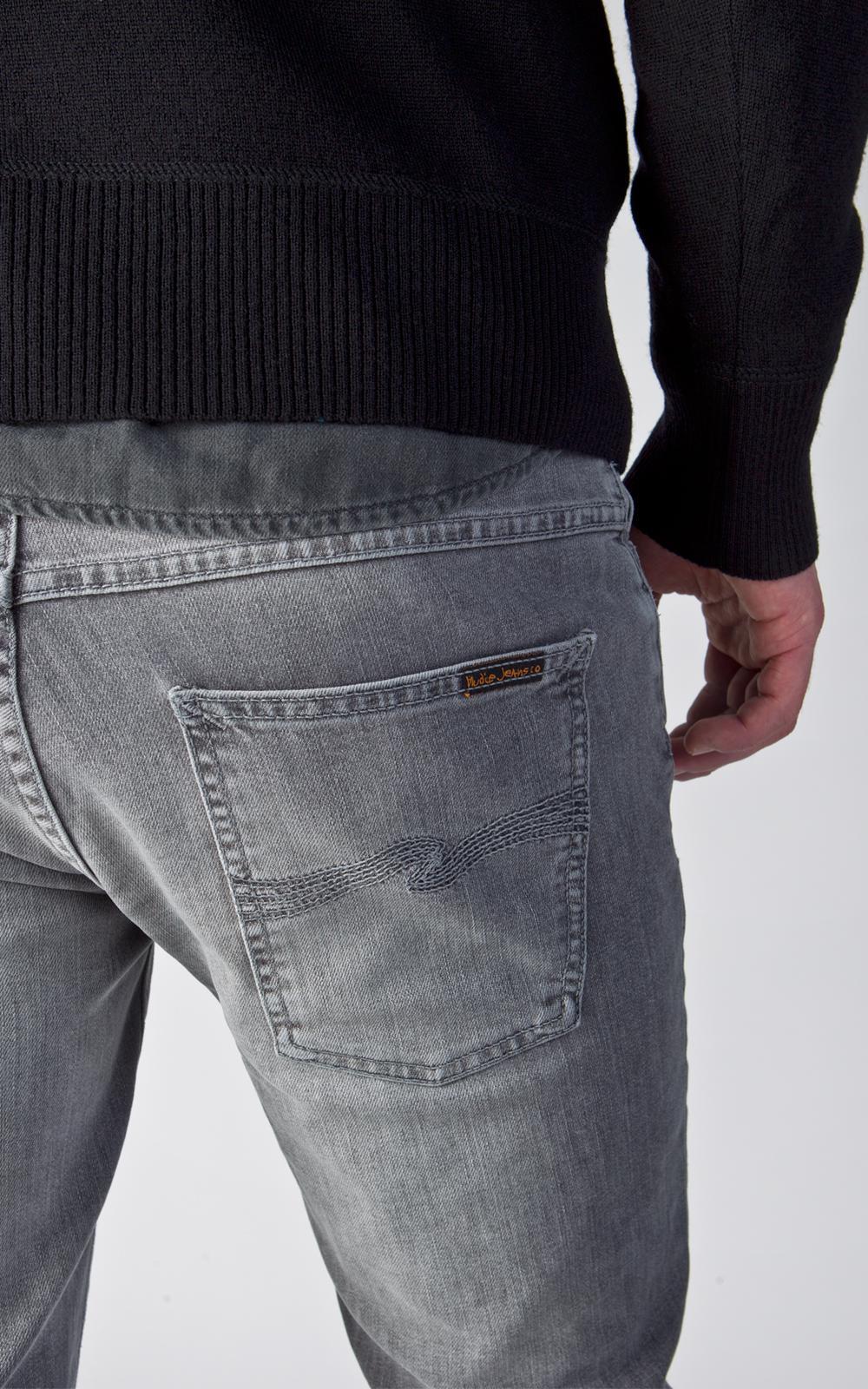 Nudie Jeans Denim Nudie Jeans Thin Finn Dark Pavement 11.5oz for Men