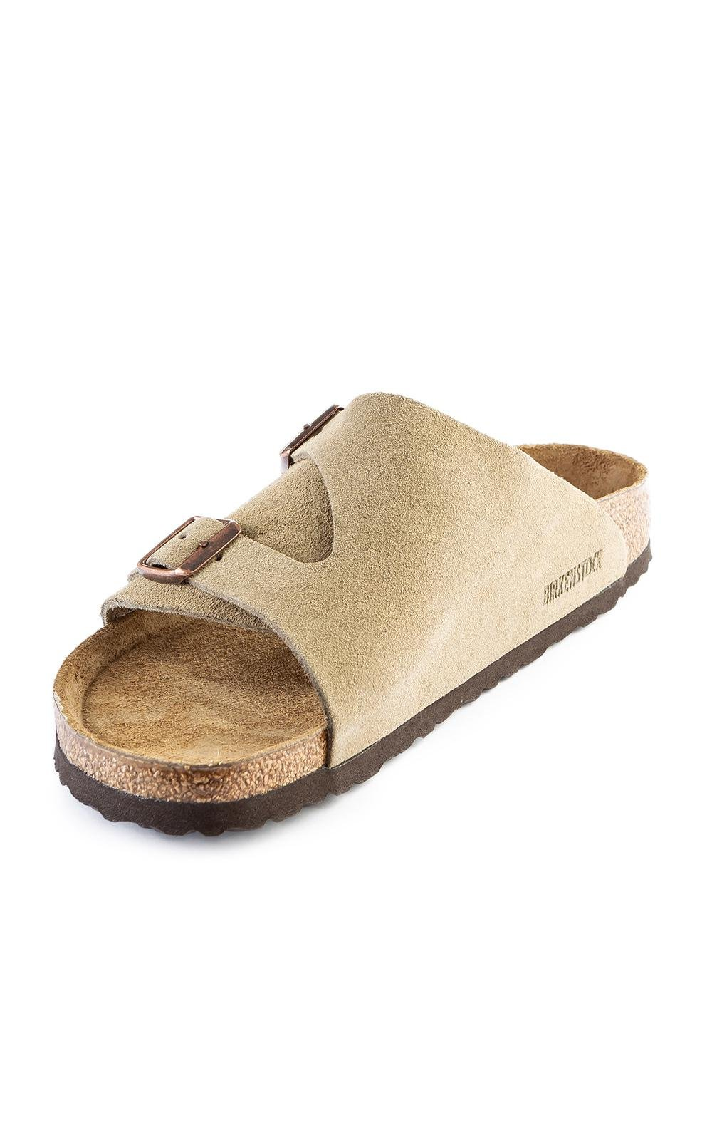 1a1dc7793a7 Birkenstock - Multicolor Zürich Soft Footbed Velour Taupe - Lyst. View  fullscreen