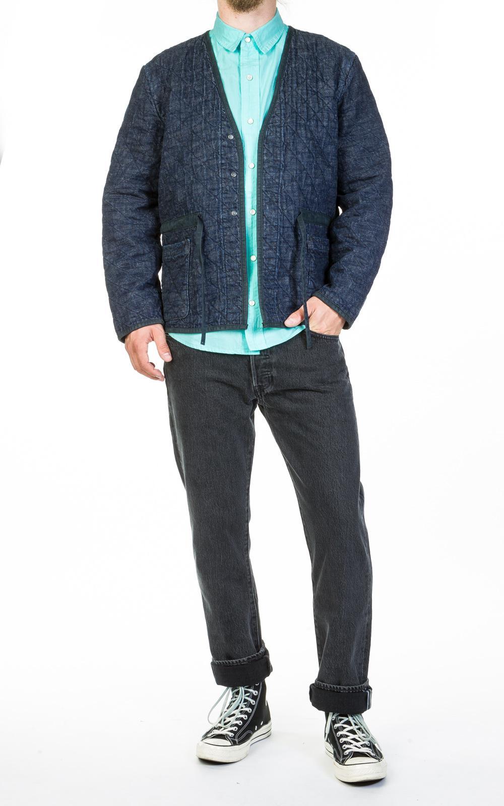 Levi's Denim Quilted Jacket Carlow Indigo in Blue for Men