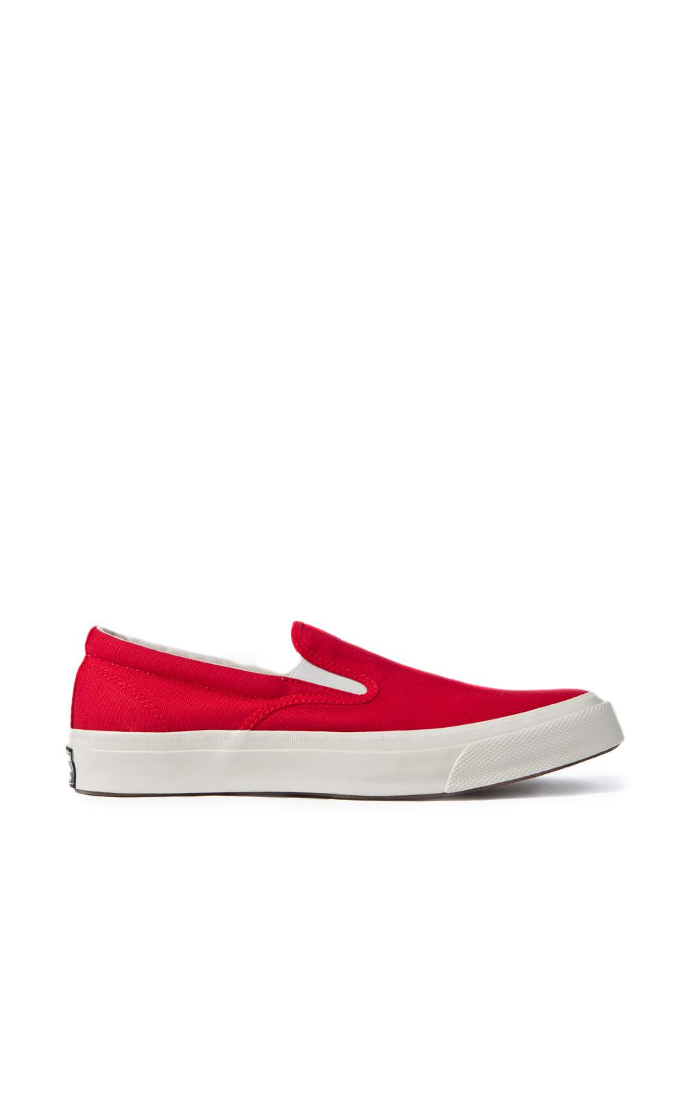 f7b79bdec795 Converse Deck Star  67 Slip Red white in Red for Men - Lyst