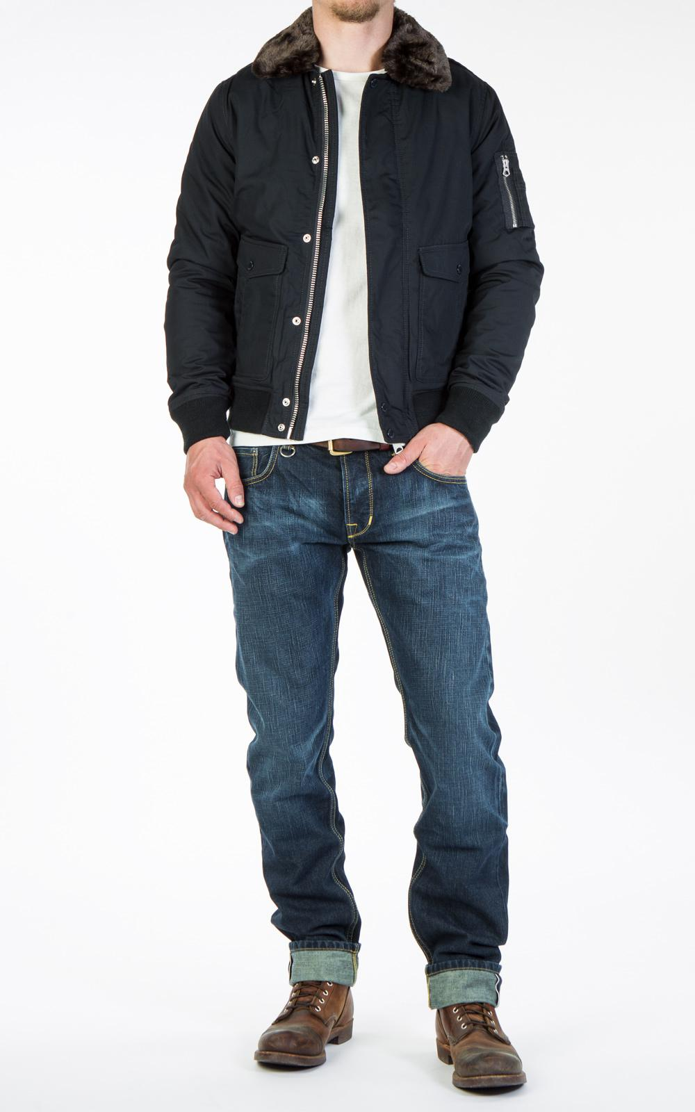 Schott Nyc Synthetic Air Jacket Navy in Blue for Men
