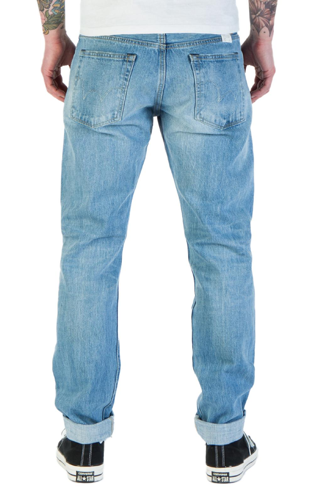 Edwin Denim Classic Regular Tapered Rainbow Selvage Light Used in Blue for Men