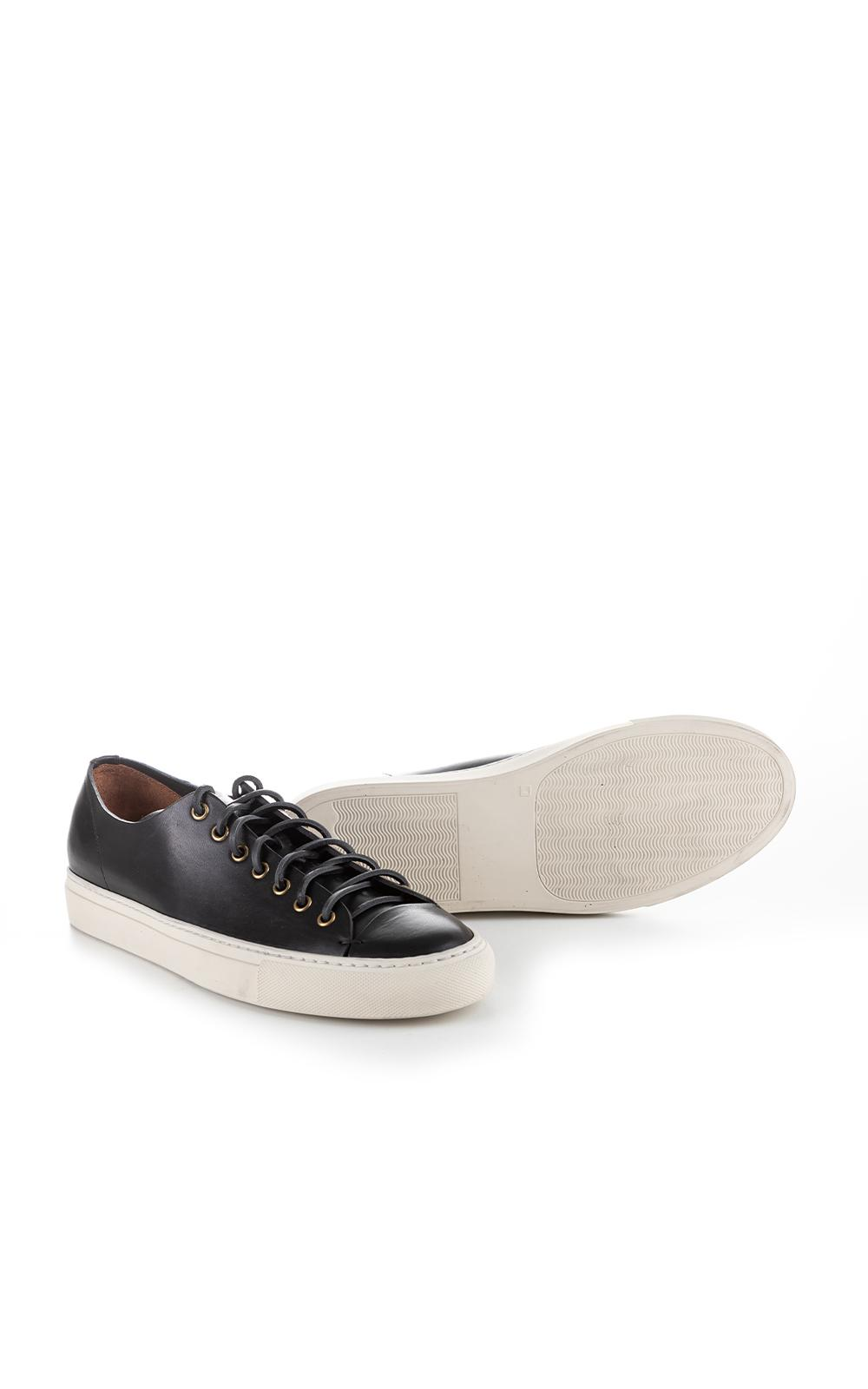 Buttero Leather B4006 Tanino Low Sneaker Black for Men