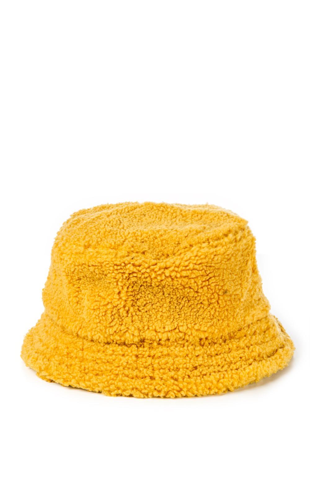 Lyst - Stussy Sherpa Fleece Bucket Hat in Yellow for Men d2a0c29fc