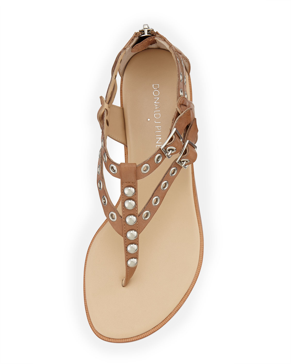 Lyst Donald J Pliner Lulu Studded Leather Sandal In Brown