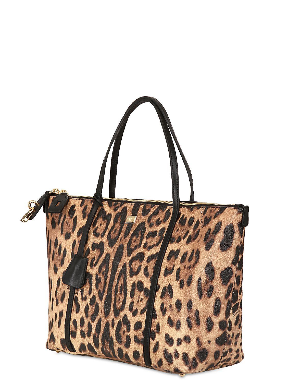 Lyst - Dolce   Gabbana Miss Escape Leopard Print Tote Bag 01a0c546c2