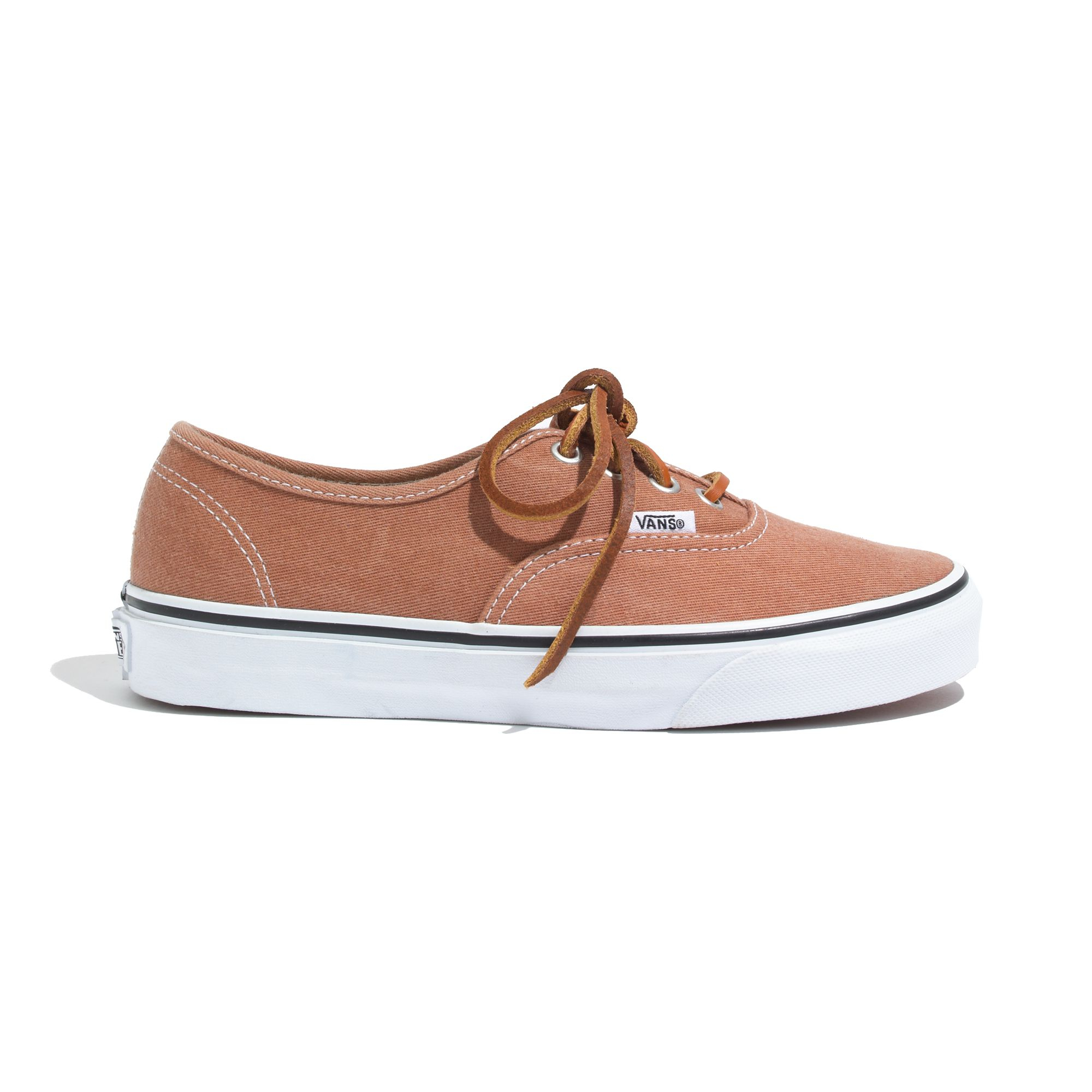 Madewell Vans&Reg; Authentic Brushed Twill Sneakers in Rust (Natural)