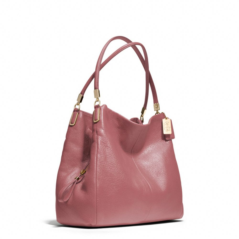 adef83af31 Lyst - COACH Madison Small Phoebe Shoulder Bag in Leather in Pink