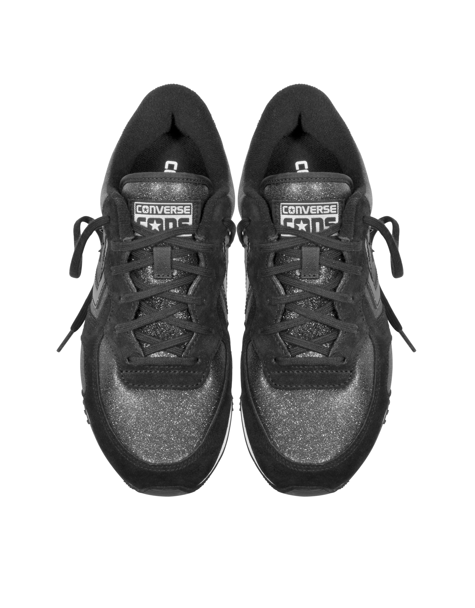 86d1ad2a37b514 Converse Auckland Racer Ox Black Glam Fabric And Suede Sneaker W ...