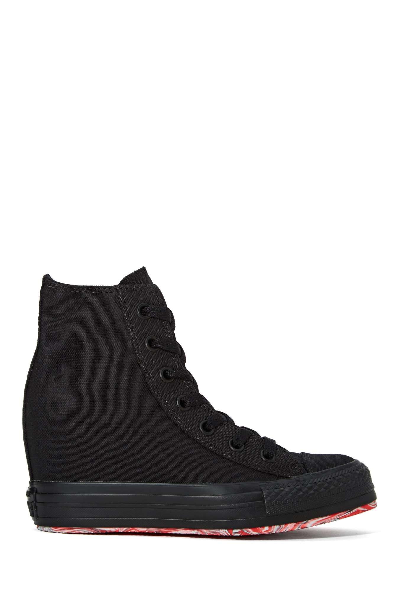 Nasty Gal Converse All Star High Top Platform Sneaker