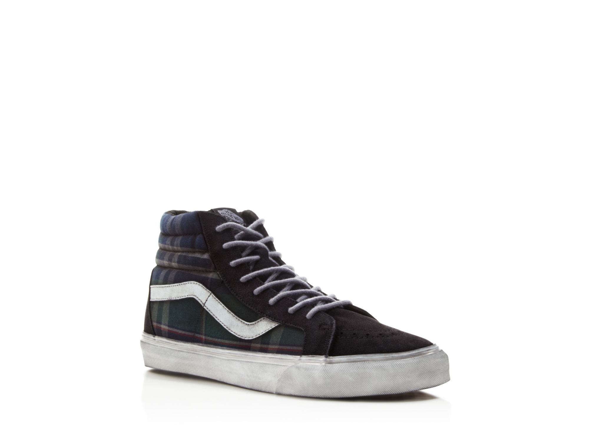 9a0110e75b Lyst - Vans Sk8-hi Reissue Ca Overwashed Plaid Sneakers in Black for Men