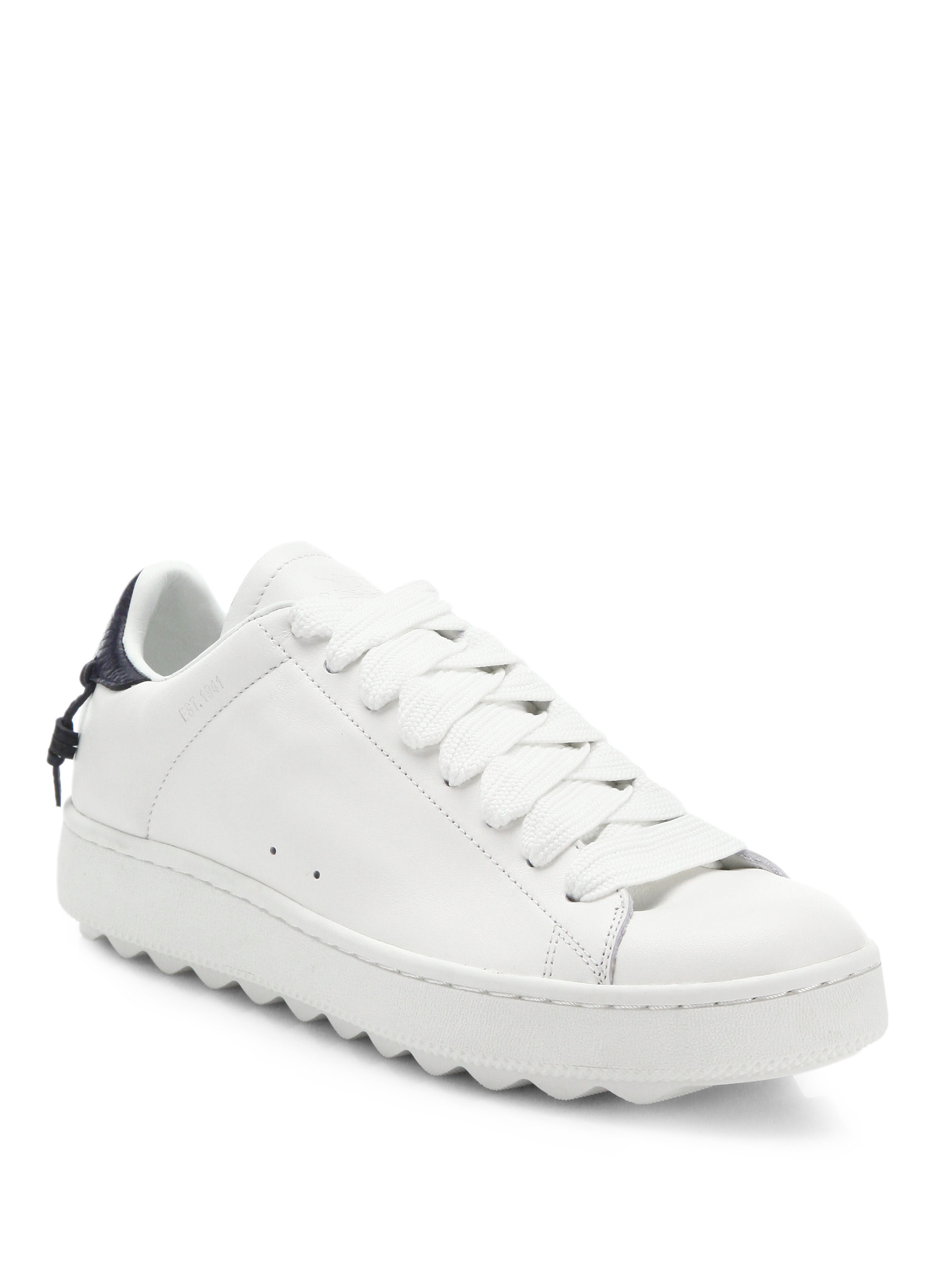 coach leather sneakers in white for lyst