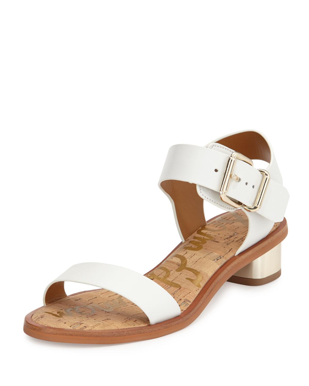 43f12c3e0 Lyst - Sam Edelman Trina Leather City Sandal in White