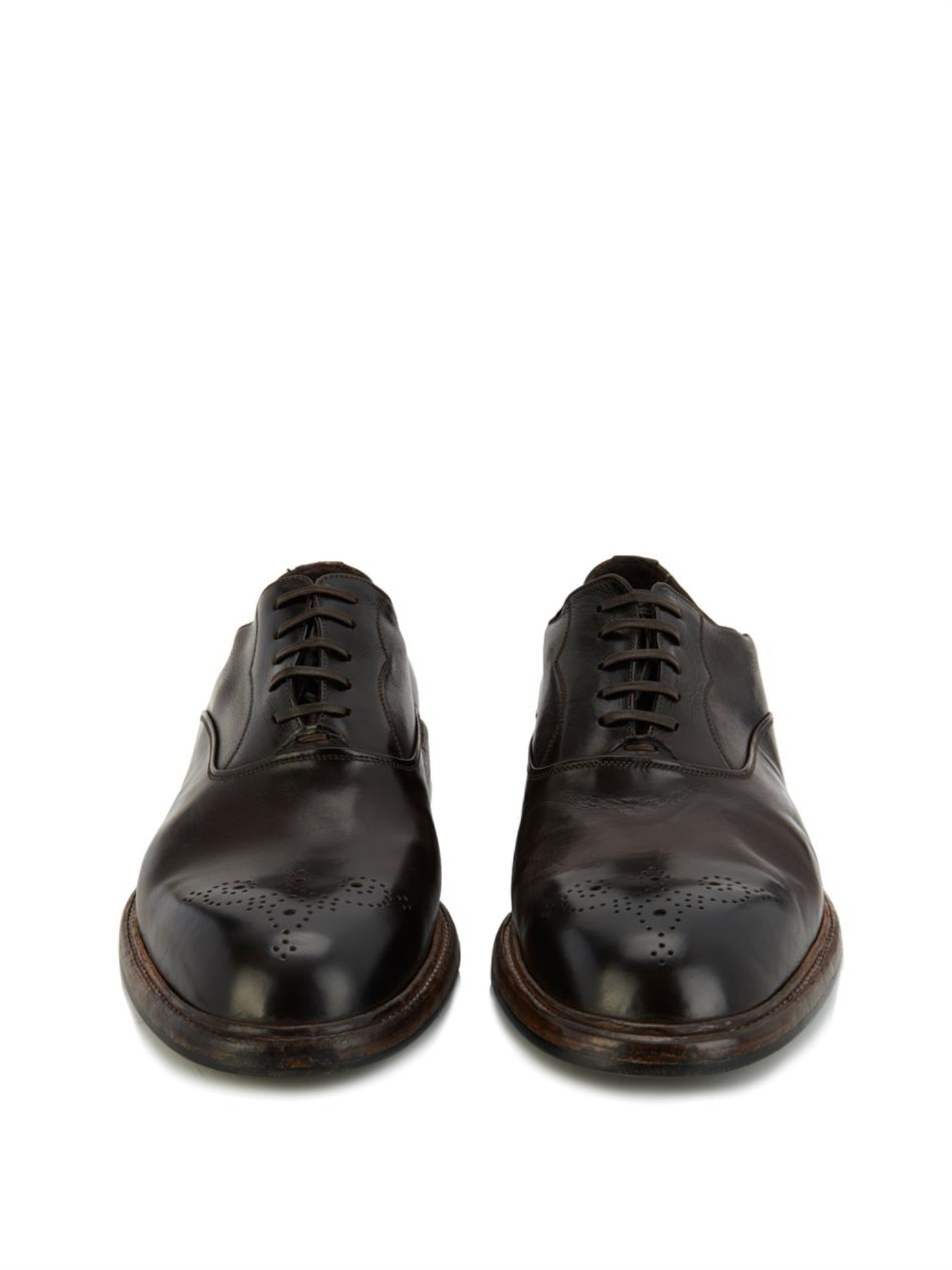 Dolce & Gabbana Leather Brogue Oxfords buy cheap 2015 sale outlet WyTpU61