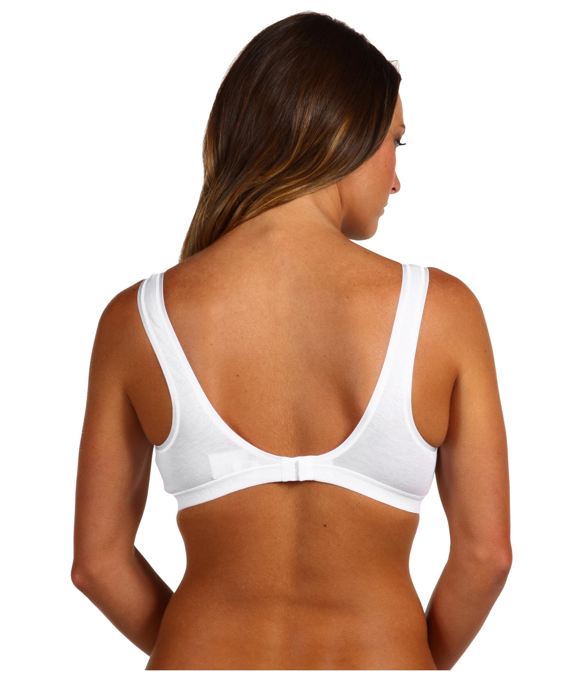 7201d8f0e2 Lyst - Hanro Cotton Seamless Soft Cup Bra 1632 in White
