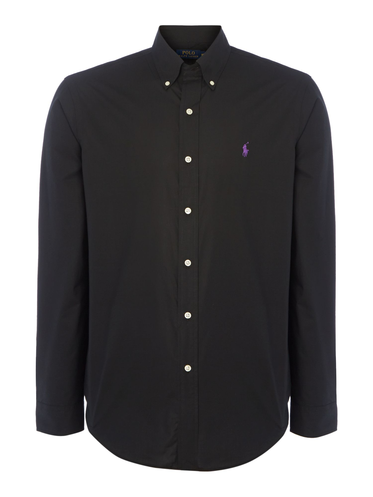 Polo ralph lauren Plain Long Sleeve Button Down Shirt in Black for ...