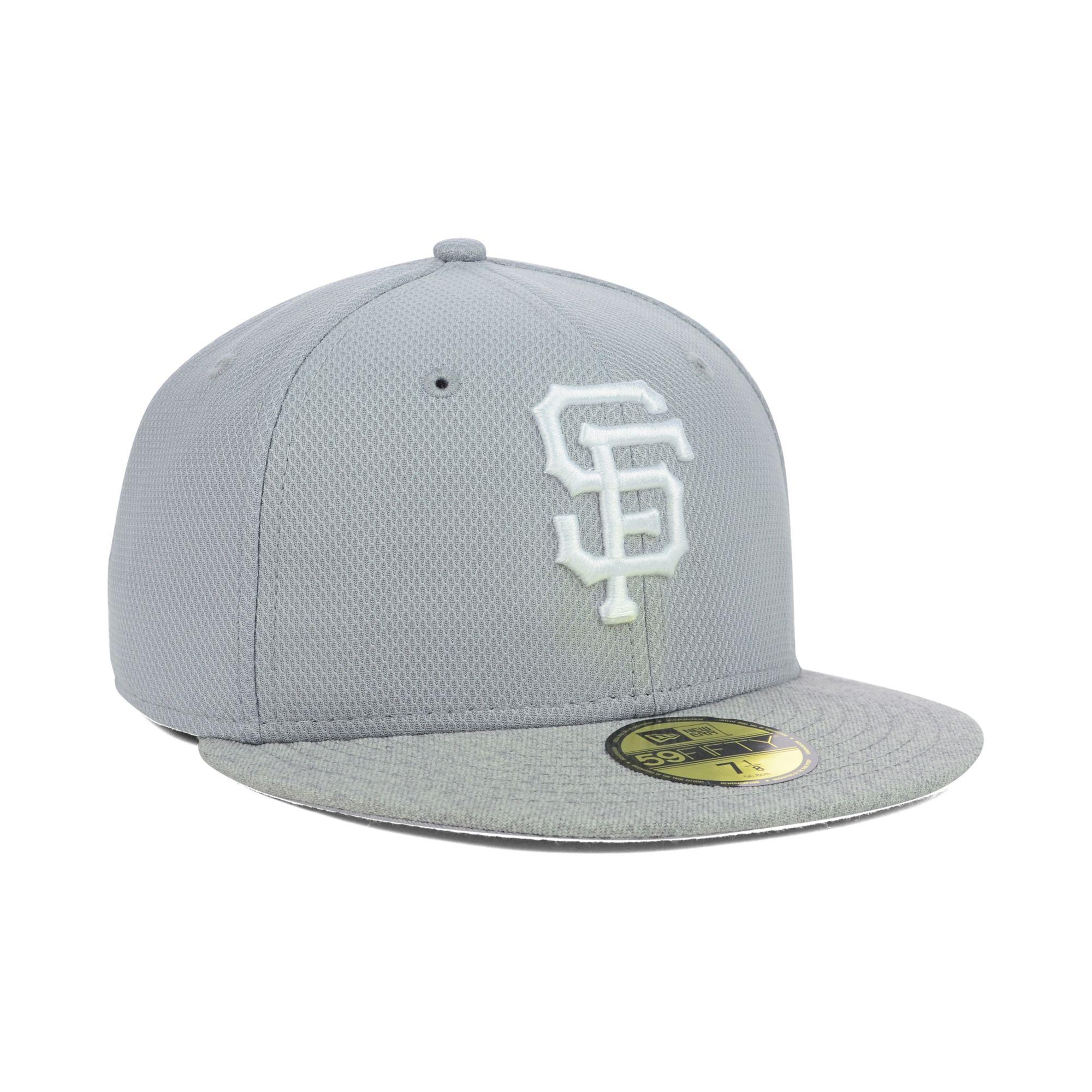 finest selection 623c2 3d3e5 ... where can i buy lyst ktz san francisco giants diamond heather 59fifty  cap in gray 9365e
