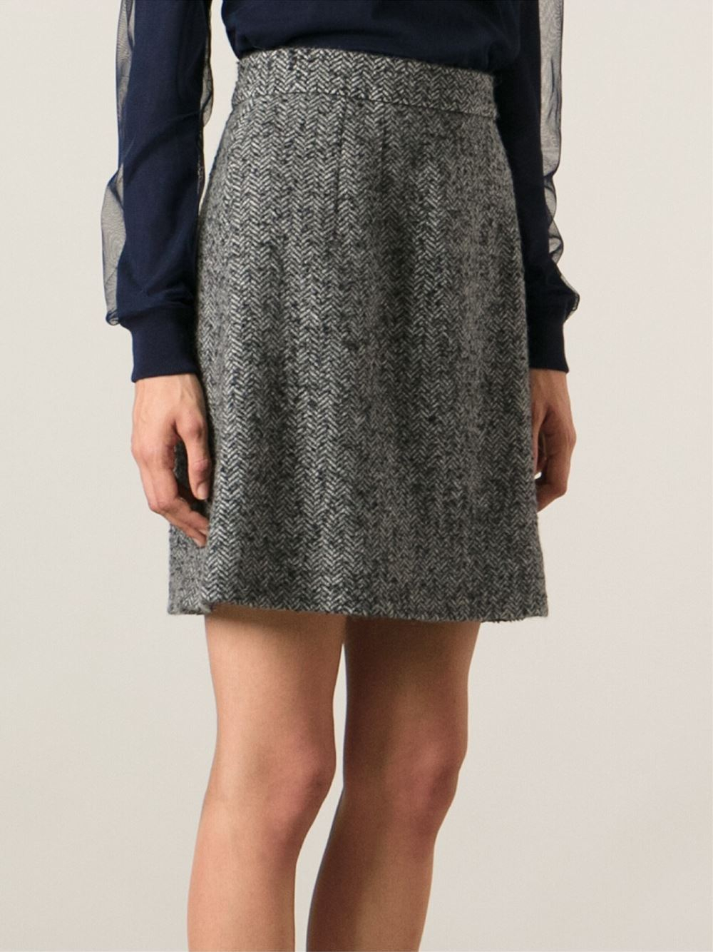Gray A Line Skirt - Dress Ala