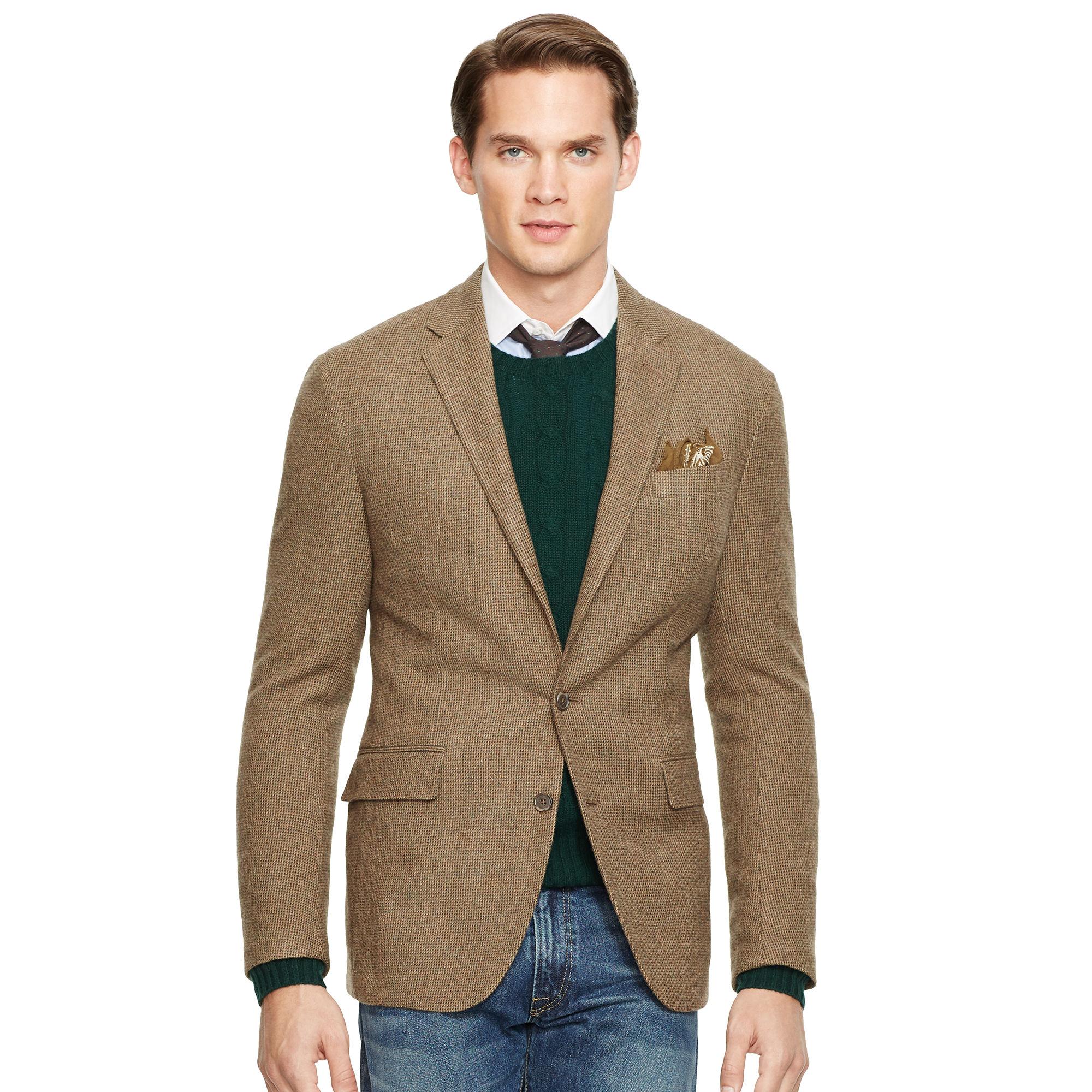 polo ralph lauren tick weave sport coat in green for men. Black Bedroom Furniture Sets. Home Design Ideas