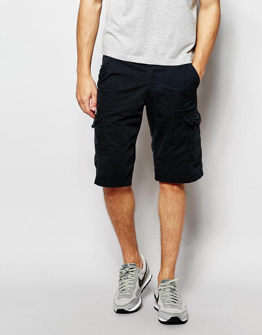 lyst esprit cargo shorts black in black for men