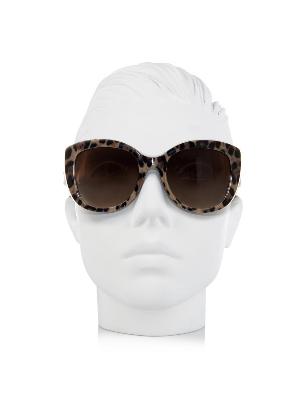 Dolce & Gabbana Leopard-Print Cat-Eye Sunglasses